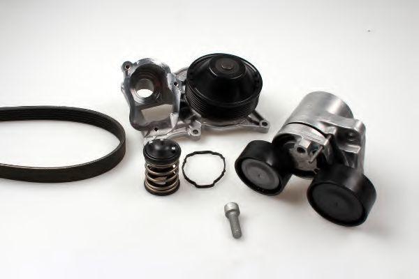 Водяной насос + комплект ручейковых ремней HEPU PK04241