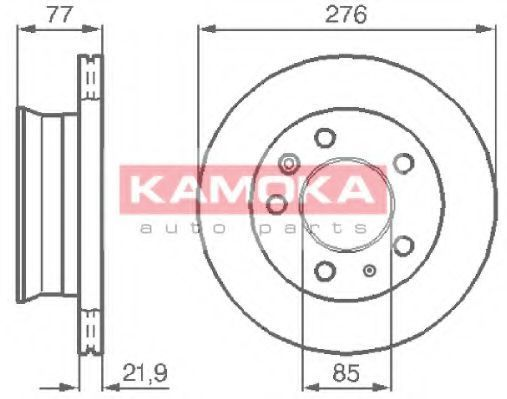 Диск тормозной KAMOKA 103306