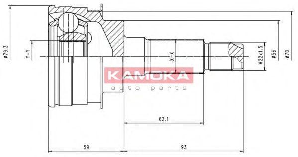 ШРУС KAMOKA 6476