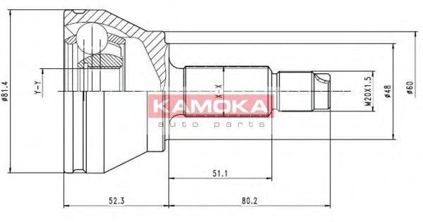 ШРУС KAMOKA 6512