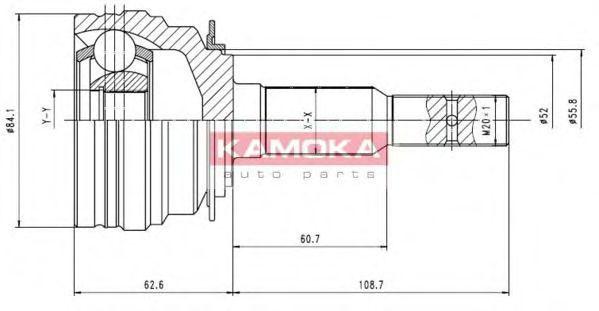 ШРУС KAMOKA 6610