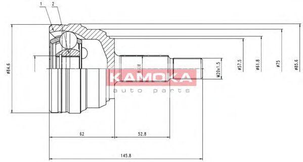 ШРУС KAMOKA 6612