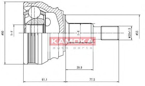 ШРУС KAMOKA 6680