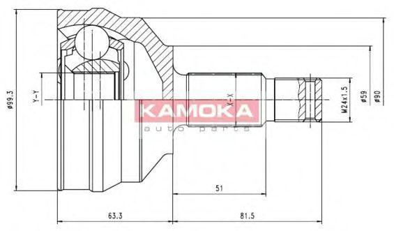 ШРУС KAMOKA 6698