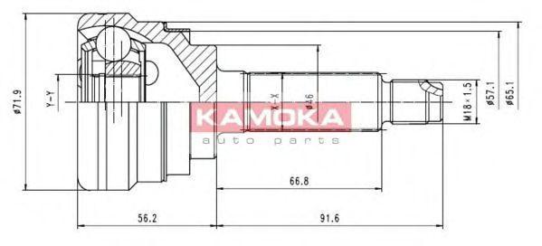 ШРУС KAMOKA 7052