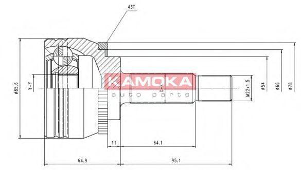 ШРУС KAMOKA 7056