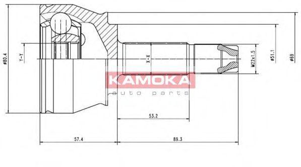 ШРУС KAMOKA 7136