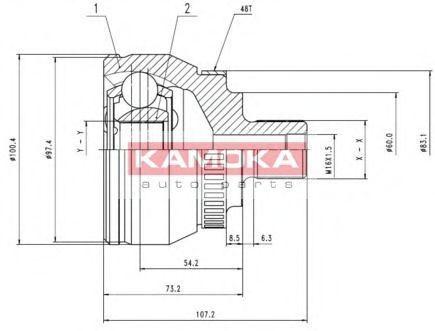 ШРУС KAMOKA 7268