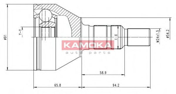 ШРУС KAMOKA 6039