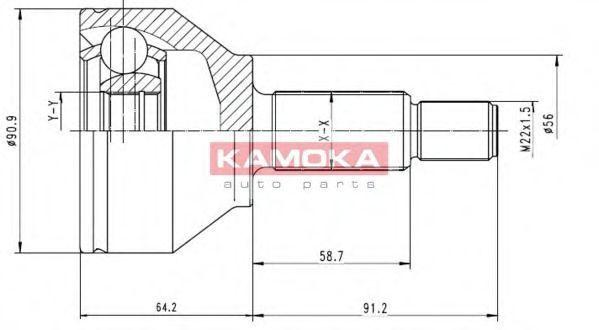 Купить ШРУС комплект KAMOKA 6040