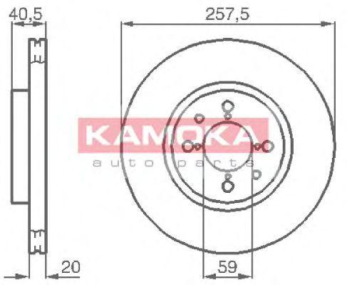 Диск тормозной KAMOKA 1031042