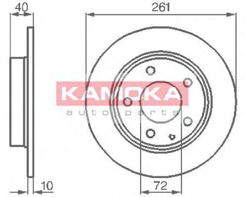 Диск тормозной KAMOKA 1031048