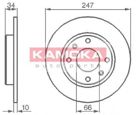 Диск тормозной KAMOKA 103118