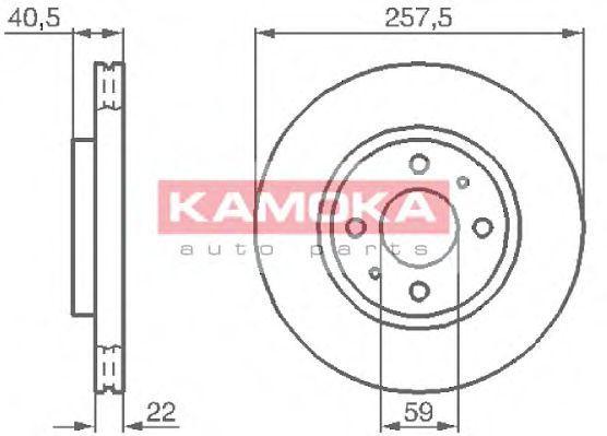 Диск тормозной KAMOKA 1031524