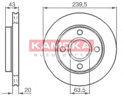 Диск тормозной KAMOKA 1031532