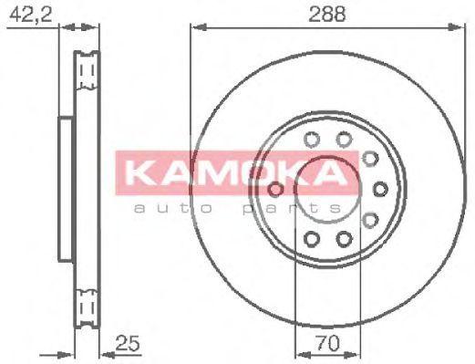 Диск тормозной KAMOKA 1031620
