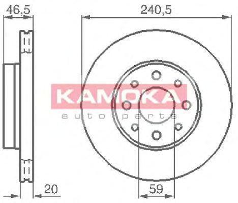 Диск тормозной KAMOKA 1031776