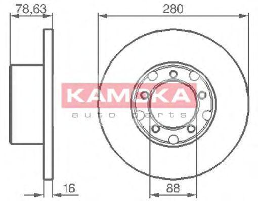 Диск тормозной KAMOKA 103190