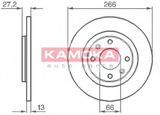 Диск тормозной KAMOKA 1032000