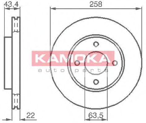 Диск тормозной KAMOKA 1032144