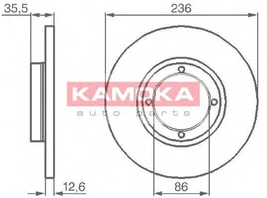 Диск тормозной KAMOKA 1032152