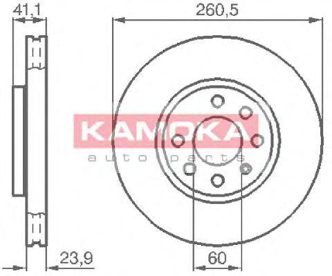 Диск тормозной KAMOKA 1032262