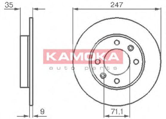 Диск тормозной KAMOKA 1032356