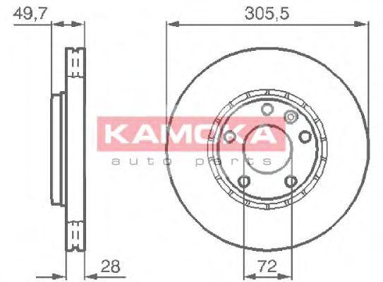 Диск тормозной KAMOKA 1032408