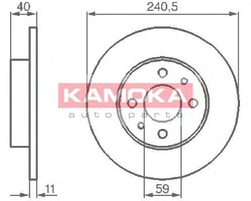 Диск тормозной KAMOKA 103280