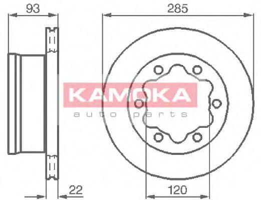 Диск тормозной KAMOKA 103382