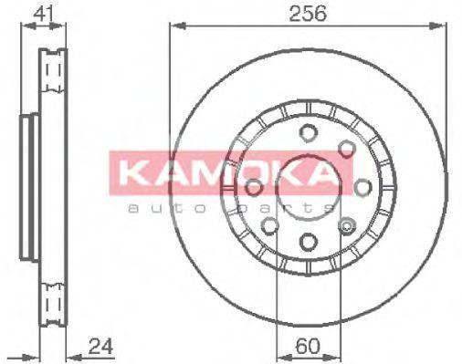 Диск тормозной KAMOKA 103412