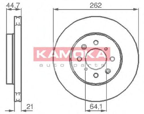 Диск тормозной KAMOKA 1035518