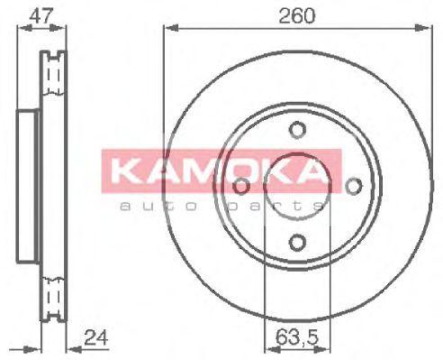 Диск тормозной KAMOKA 103728