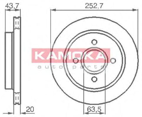 Диск тормозной KAMOKA 103958