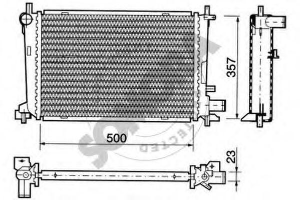 Радиатор, охлаждение двигателя SOMORA 092342