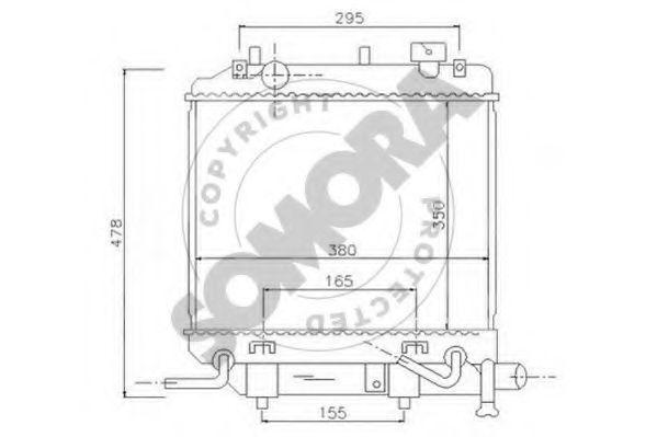 Радиатор, охлаждение двигателя SOMORA 167040A