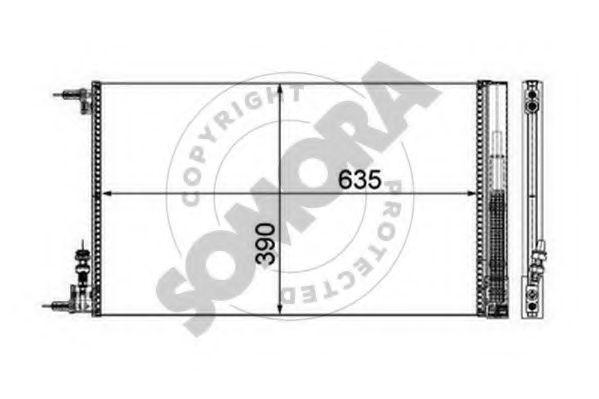 Конденсатор, кондиционер SOMORA 210860
