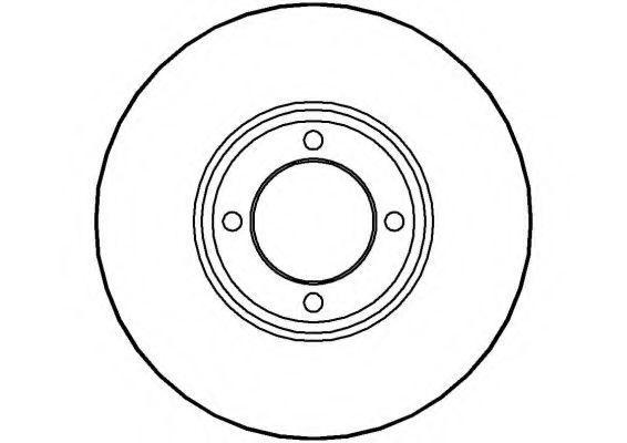 Тормозной диск NATIONAL NBD024