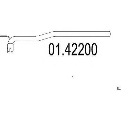 Купить Труба приемная глушителя MTS 0142200
