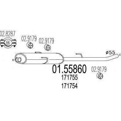 Купить Резонатор MTS 0155860