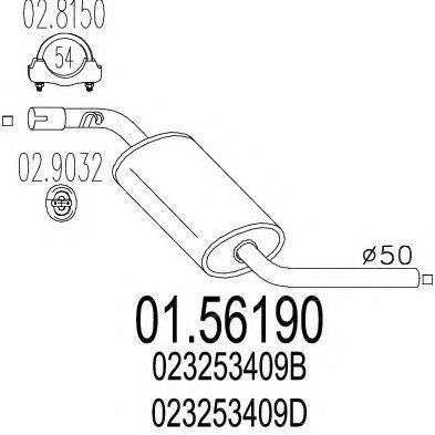 Купить Глушитель выхлопной системы MTS 0156190