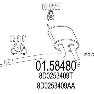 Глушитель выхлопной системы MTS 01.58480