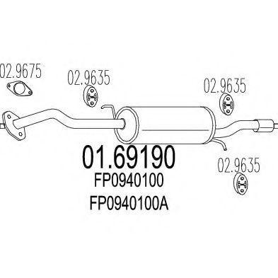 Глушитель выхлопной системы MTS 0169190  - купить со скидкой