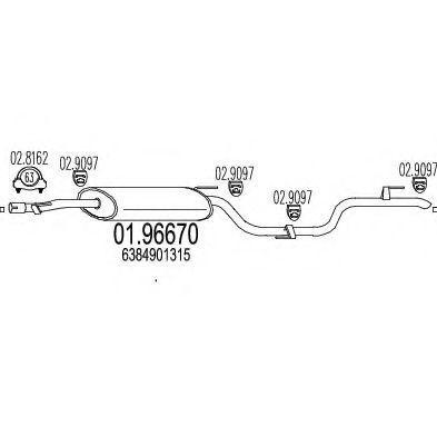 Глушитель выхлопной системы MTS 0196670  - купить со скидкой