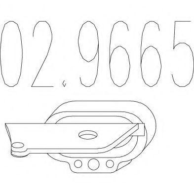 Резиновый элемент крепления выхлопной системы MTS 029665  - купить со скидкой