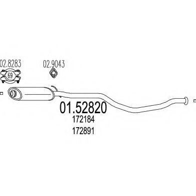 Купить Резонатор MTS 0152820