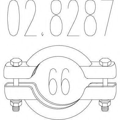 Купить Монтажный элемент выхлопной системы MTS 028287