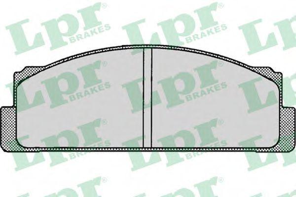 Колодки тормозные LPR 05P003