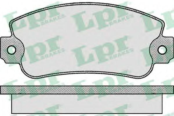 Колодки тормозные LPR 05P006