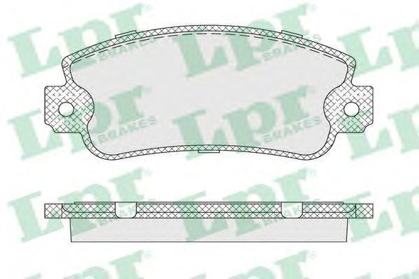 Колодки тормозные LPR 05P007